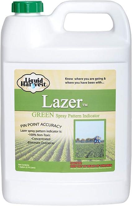 Liquid Harvest Lazer Concentrado Spray indicador patrón - 1 (128 onzas) Weed pulverización de Tinte, herbicida Dye, Fertilizante Marcado Tinte Verde ...