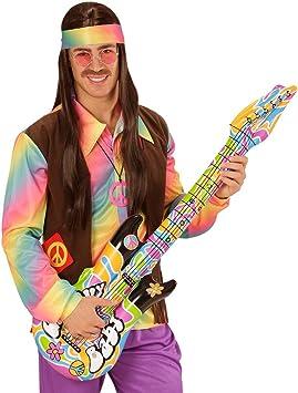 Amakando Guitarra de Aire Groovy Guitarra Hippie para hinchar 105 ...