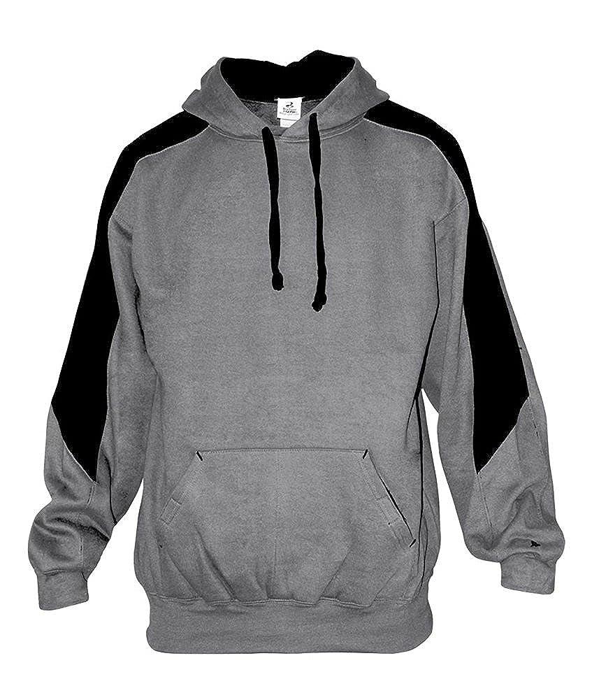 Badger Contrast shoulder /& top sleeve pullover Hoodie