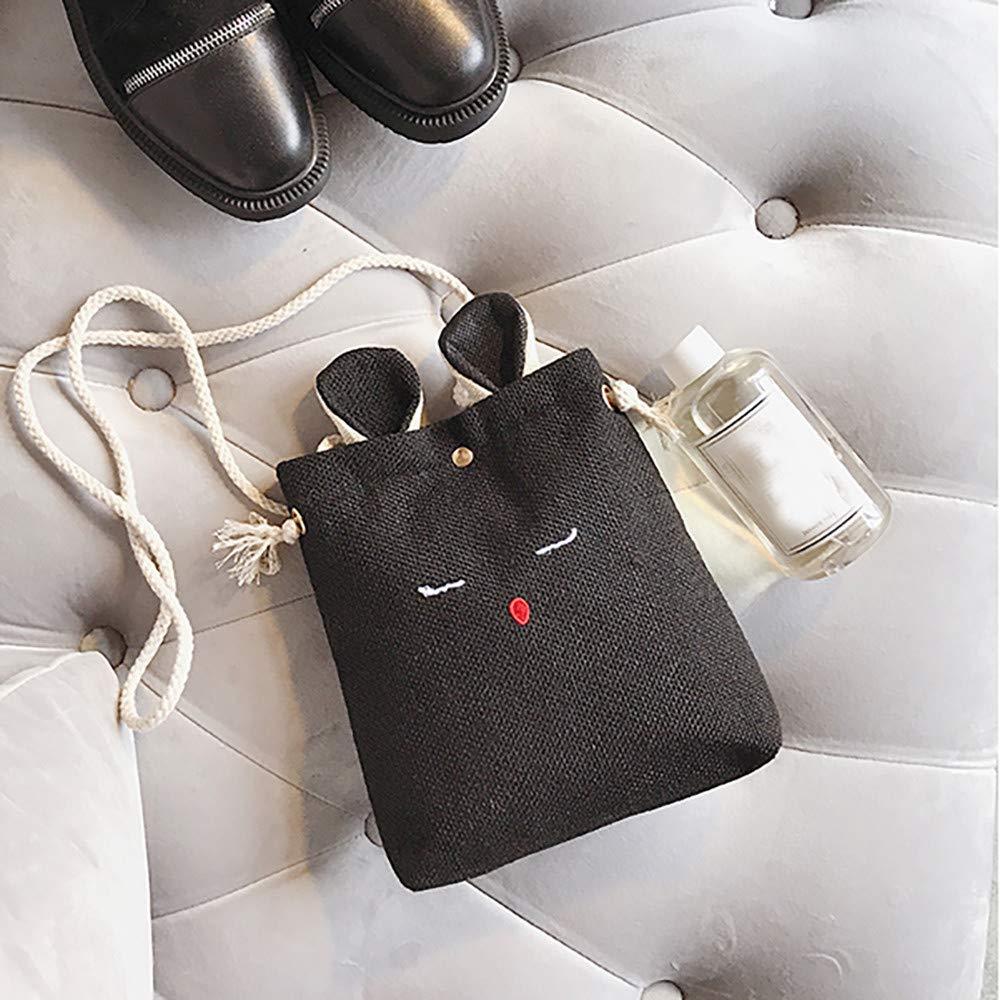 Fashion Bags Women Burlap Cat Ears Small Square Bag Simple Cute Shoulder Crossbody Bag,Outsta 2019 Deals