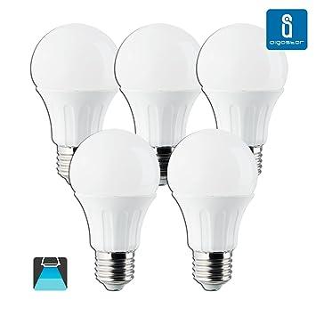 Aigostar – Bombillas LED A5 A60B, luz regulable, 9 W, casquillo pequeño E27