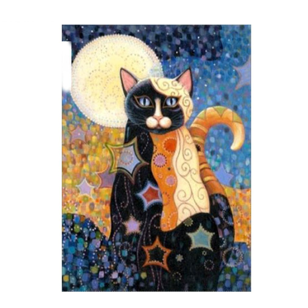 Beiguoxia 5D Full Diamond Cartoon Cat painting cristalli ricamo DIY Handmade Decor, M024, taglia unica