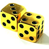 2Pcs D6 16mm Metal Alloy Custom & Unique Six-Sided Dice - 3 Types Highly Polished Premium Edition
