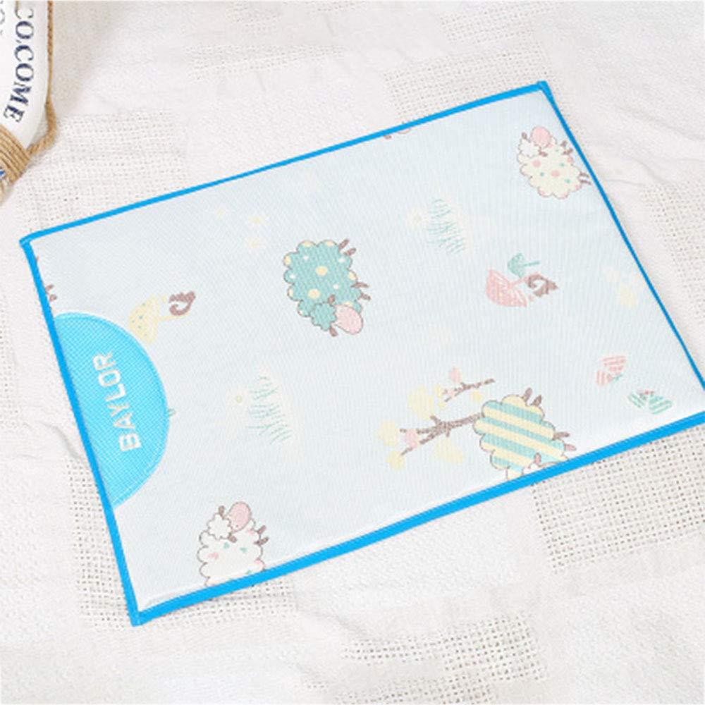 bluee Medium bluee Medium Ice Silk Pet Cushion, Cool Summer Breathable Dog Bed Cool Pad Cat Kennel Universal Sleeping Mat,bluee,Medium