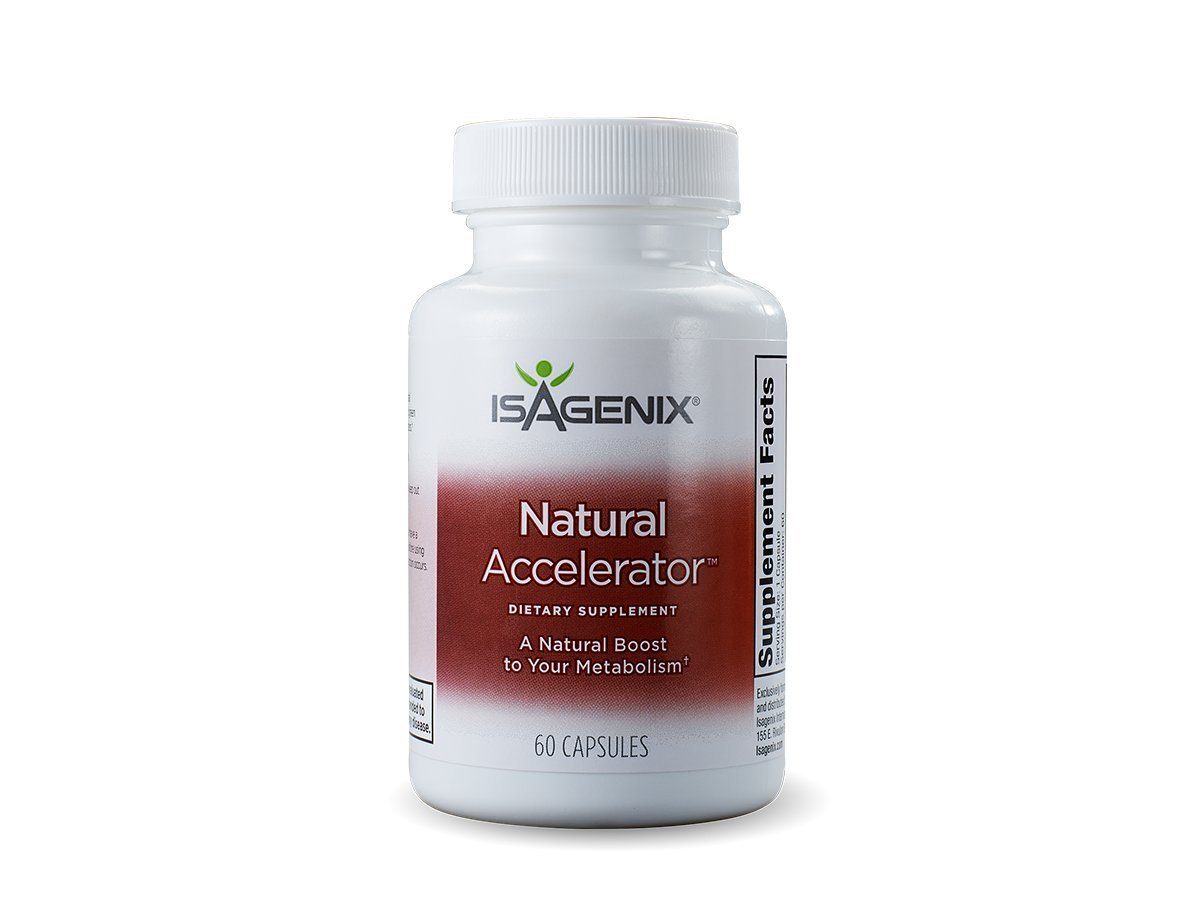 Isagenix Natural Accelerator 60 Capsules - Better Metabolism for Thermogenesis with High Quality Ingredients
