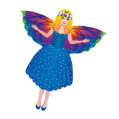 WindNSun MiniKite Mini Mylar Kite - Ready to Fly - Fairy: Toys & Games