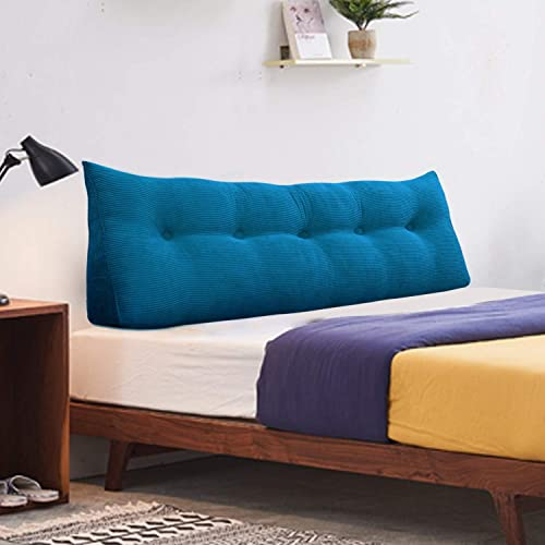 WOWMAX Bed Supportive Headboard Long Wedge Bolster Triangular Upholstered Padded Sidebar Headboard