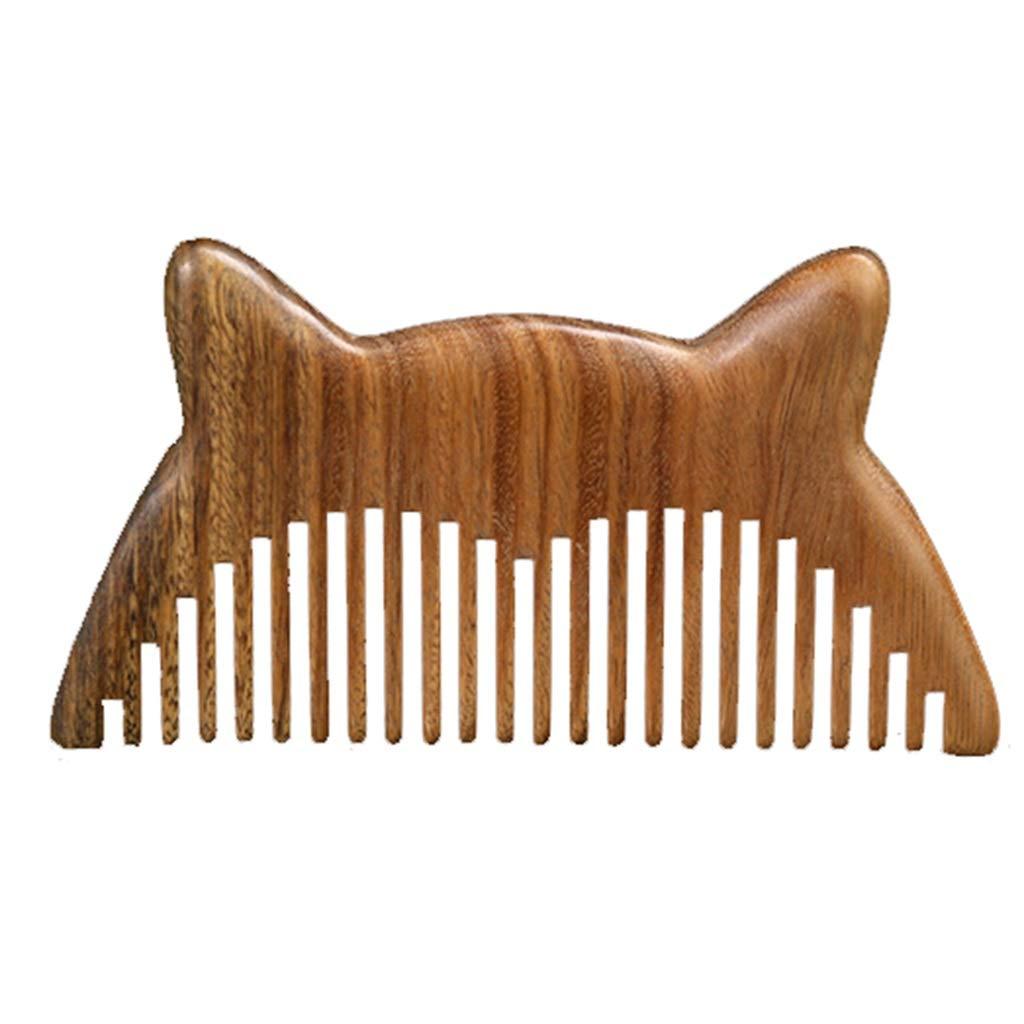 Comb Sandalwood Anti-Static Massage Head Green Sandalwood