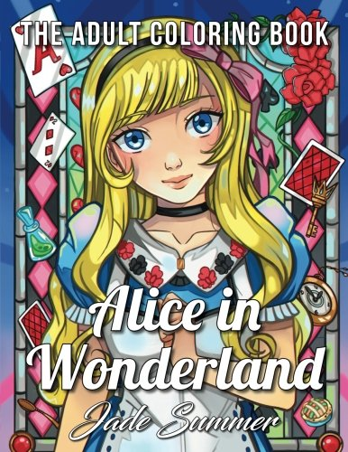 Alice in Wonderland: An Adult Coloring Book with Fun, Relaxing, and Beautiful Coloring Pages cover