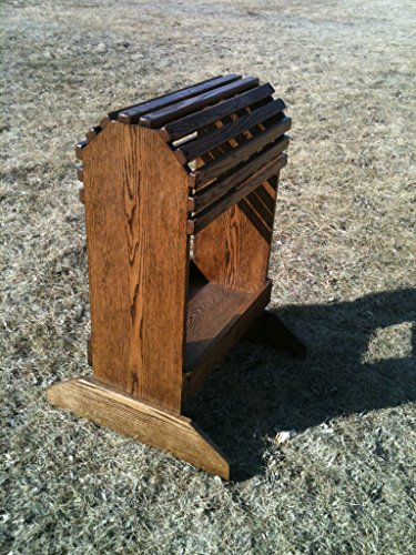 Stand Wooden Saddle - New Handmade Oak Saddle Rack W/Tray