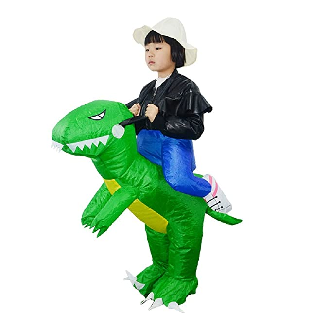 Qualified Halloween T-rex Costume Blow Up Mascot Cosplay Clothes Dinosaur Riding Inflatable Costume Dino Cartoon Characters Fancy Dress Home