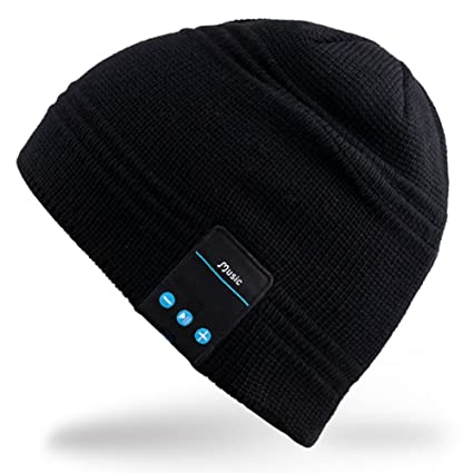 5c2bc208ee1 BB007-Black   Rotibox Wireless Bluetooth Headset Music Beanie Women Men  Winter Knitted Hat Trendy
