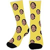 Arkioo Calcetines personalizados con imagen y texto, calcetines faciales personalizados, calcetines con imagen divertida…
