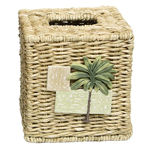 Bacova Guild Citrus Palm Tissue Cube Holder - Palm Tree Paper Towel Holder