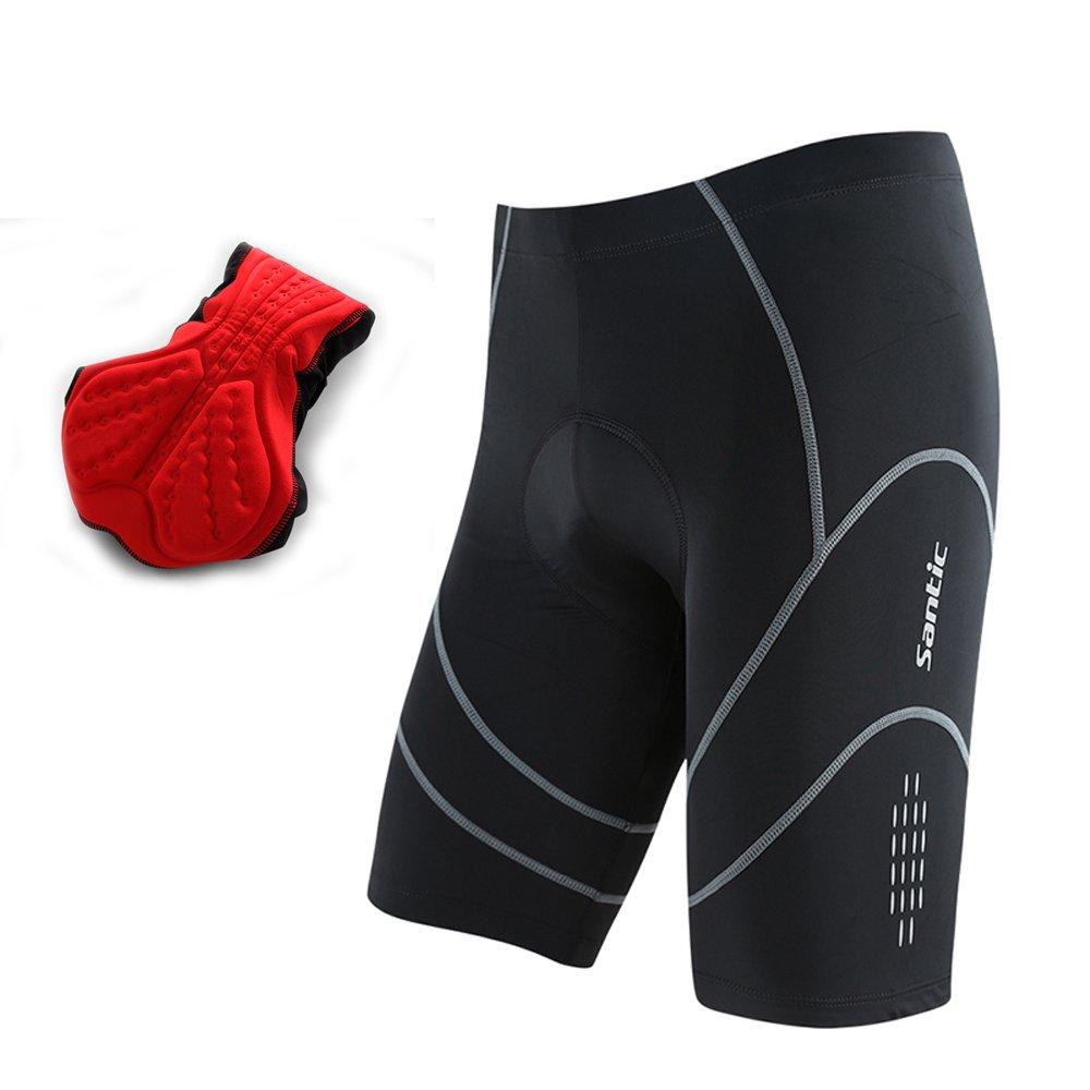 Santic Cycling Shorts Coolmax Padded Bike Short Bicycle Half Pants Size L-3XL