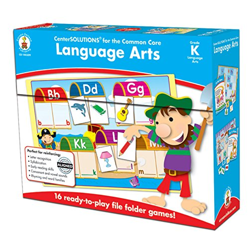 Carson-Dellosa CD-140309 Language Arts File Folder Game, Grade Kindergarten, 16 Games, 29 Sheets of Cards (Pack of 45)]()