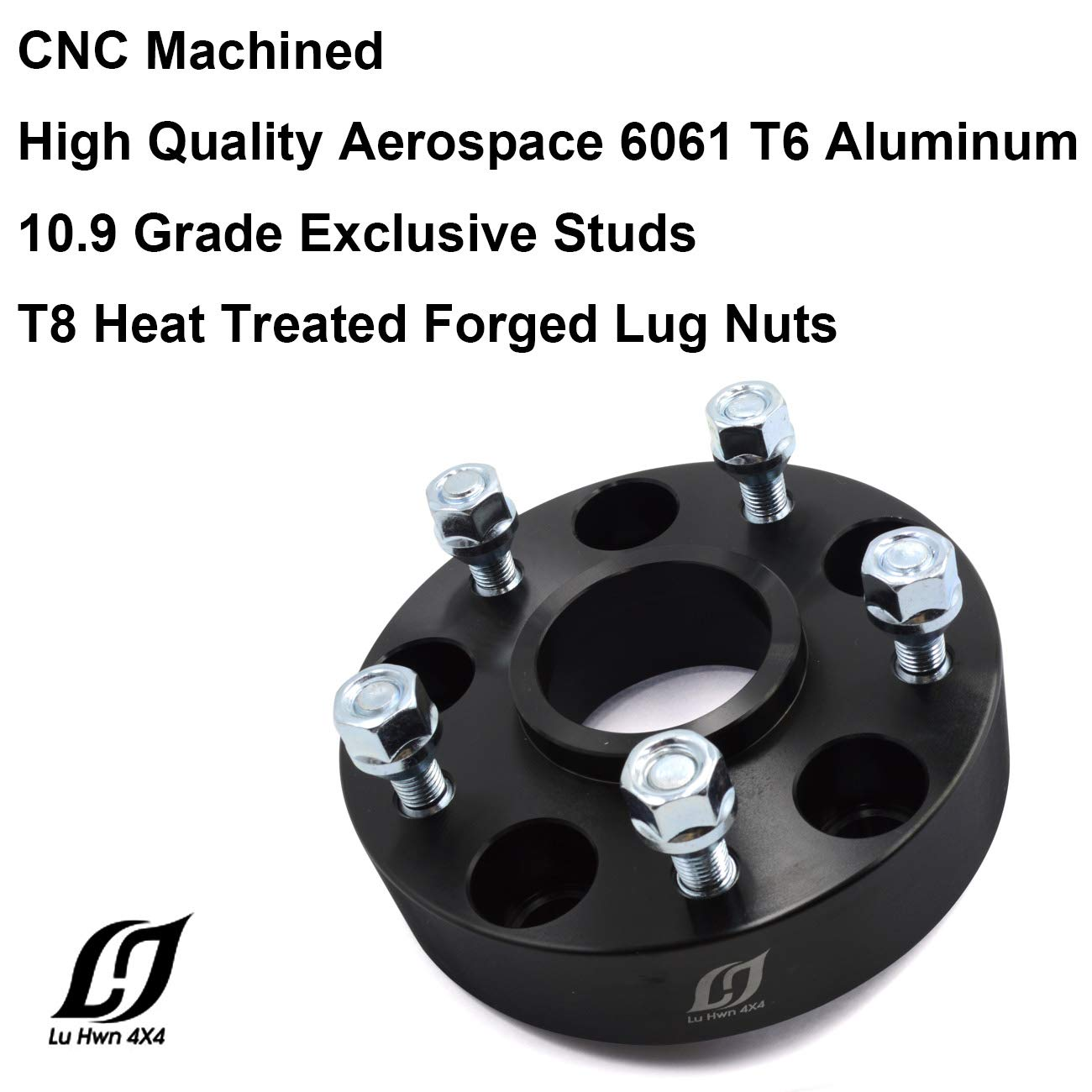 LU HWN 4X4 5x5 Wheel Spacers 1.5 inch with 14x1.5 Studs for Jeep Grand Cherokee WK2 2011-2019 Pack of 4 Wrangler JL 2018-2019