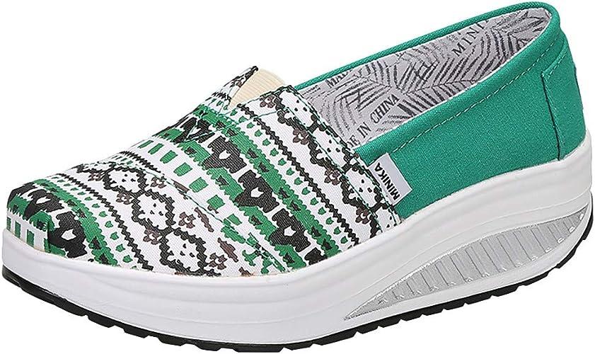 Fashion Wedge Platform Sneakers Slip