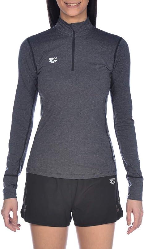 arena W Thermal H/Z Long Sleeve Camiseta Térmica De Manga Larga para Correr Mujer: Amazon.es: Deportes y aire libre