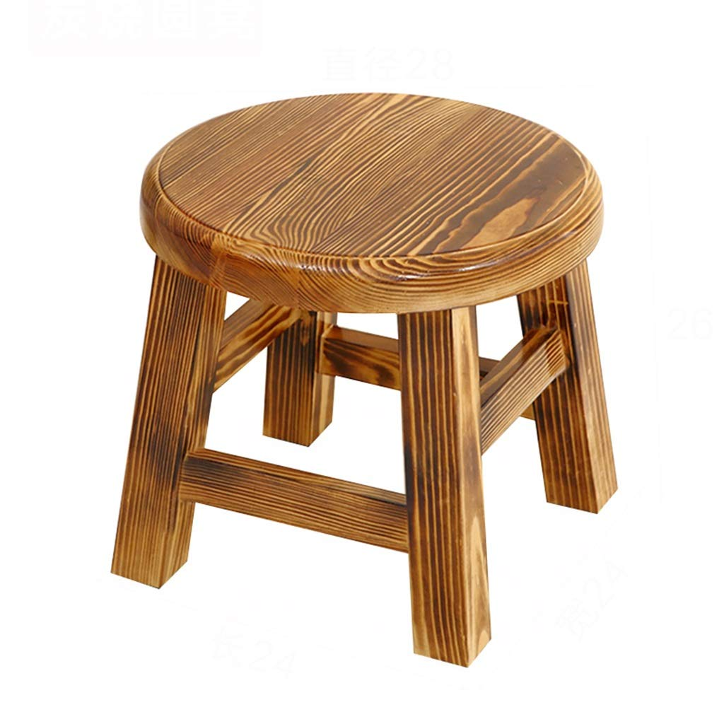 Stool-table, home solid wood tea table, modern minimalist dining table and chair combination/living room mini square table (Color : A, Size : 282826cm)