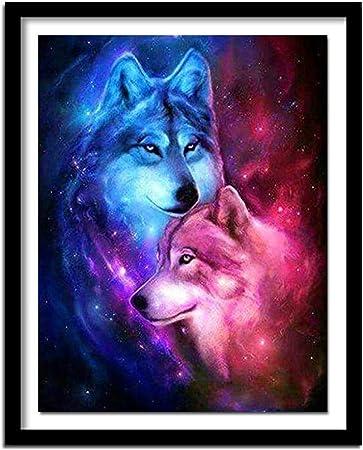 5D DIY Full Drill Diamond Painting Wolf Cross Stitch Embroidery Mosaic Kit
