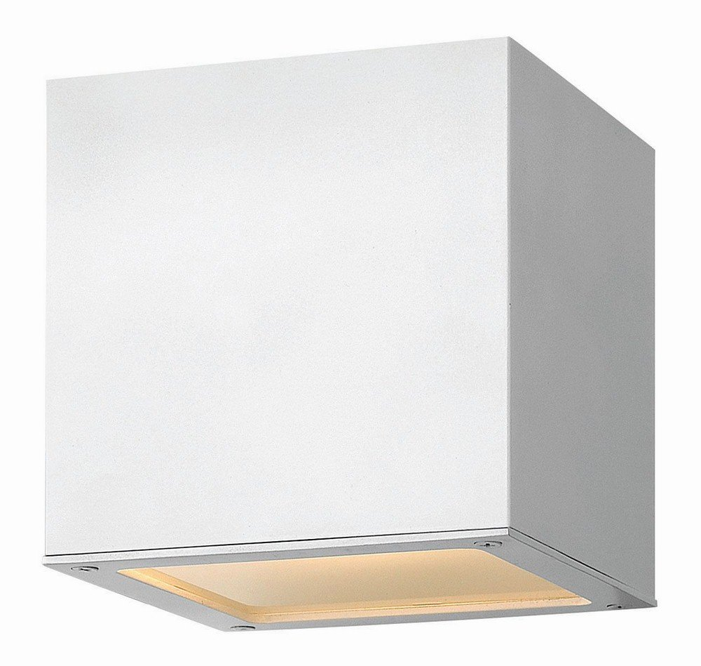 Hinkley 1768SW Contemporary Modern One Light Outdoor Wall Mount from Kube collection in Whitefinish,
