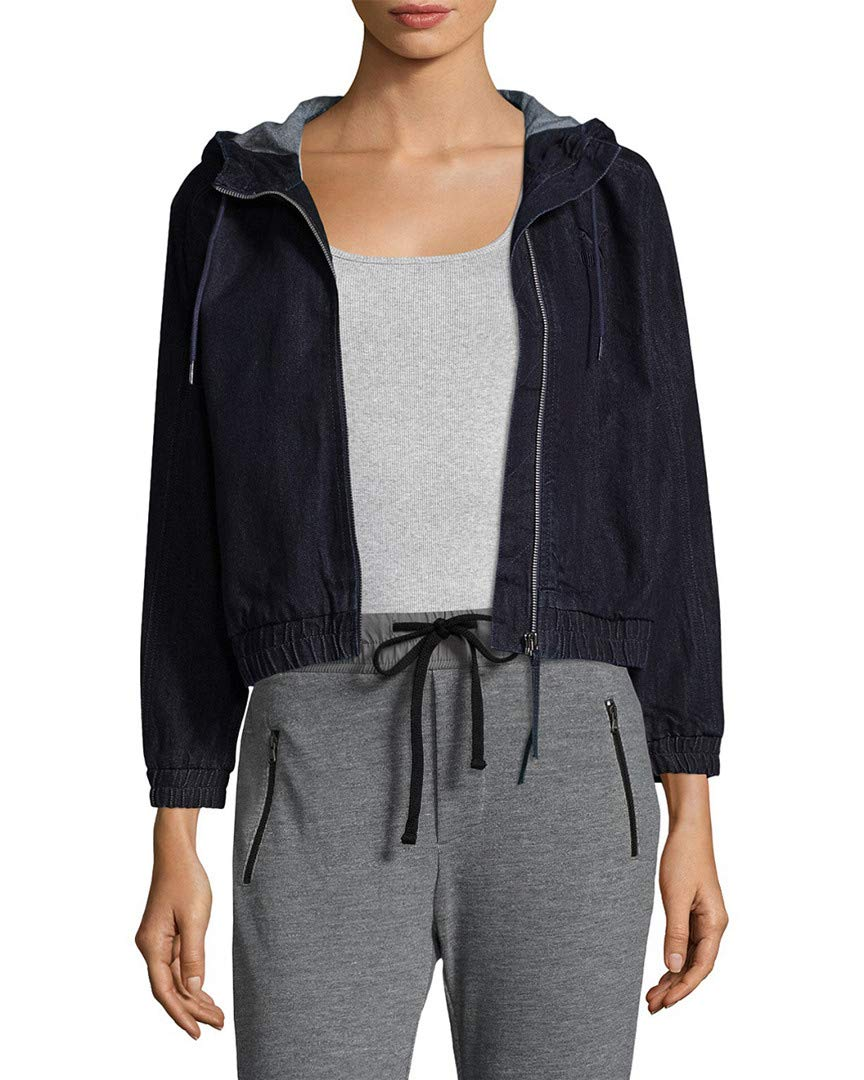 PUMA Women's Denim T7 Track Jacket, Peacoat-Denim, S