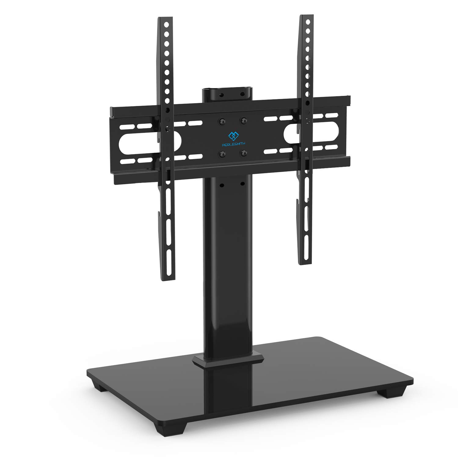 PERLESMITH Universal TV Stand - Table Top TV Stand for 37-55 inch LCD LED TVs - Height Adjustable TV Base Stand with Tempered Glass Base & Wire Management, VESA 400x400mm by PERLESMITH