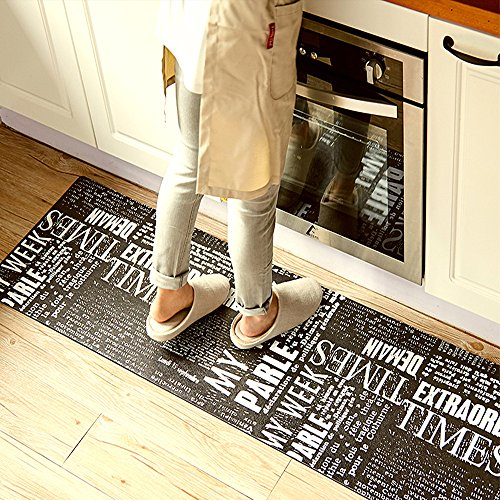 "Fatigue Kitchen Comfort Chef Floor Mat, 17.7x70.9"", Linen Cardinal Stain Resistant Surface with 1.4cm Thickness Gel Core for Health and Wellness (Cardinals Runner Mat)"