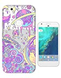 """c00604 - Cartoon Fun Pink Out Of This World Universe Alien Uno Spaceship Design Google Pixel XL 5.5"""" Fashion Trend CASE Gel Rubber Silicone All Edges Protection Case Cover offers"""