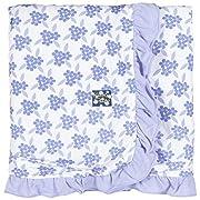 Kickee Pants Print Ruffle Stroller Blanket, Forget Me Not Floral