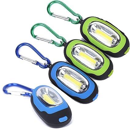 Accmor - Linterna magnética de bolsillo, 4 unidades, llavero ...