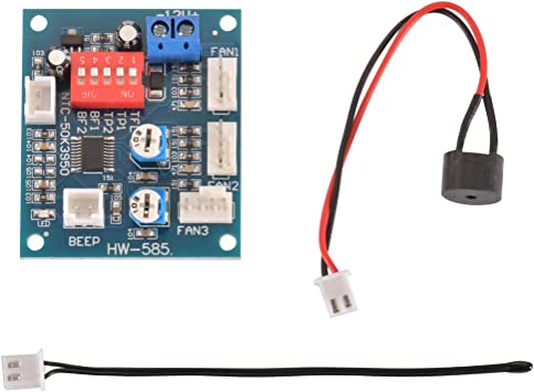 Tutmonda 12 V PWM PC CPU Ventilador Control de Temperatura Módulo ...