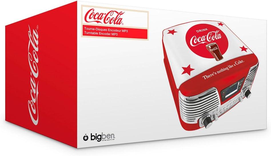 BigBen TD79 ll - Tocadiscos, diseño Coca Cola stars: Amazon.es ...