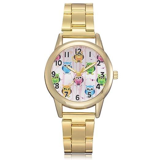 Relojes de Mujer Dorado 2018 Elegantes Pulsera de Diamantes de Imitación por ESAILQ