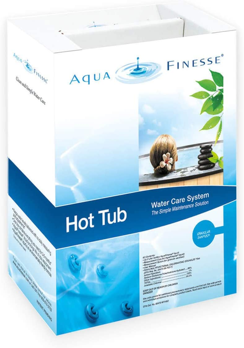 AquaFinesse 956500 All-Purpose Hot Tub 3-5 Month Cleaning Maintenance Kit, White