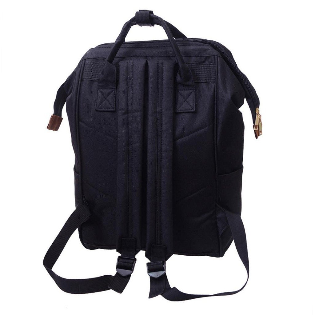 Creazrise Women Backpack ,Unisex Solid Color TravelBackpack Campus Backpacks For Women (Black) by Creazrise (Image #5)