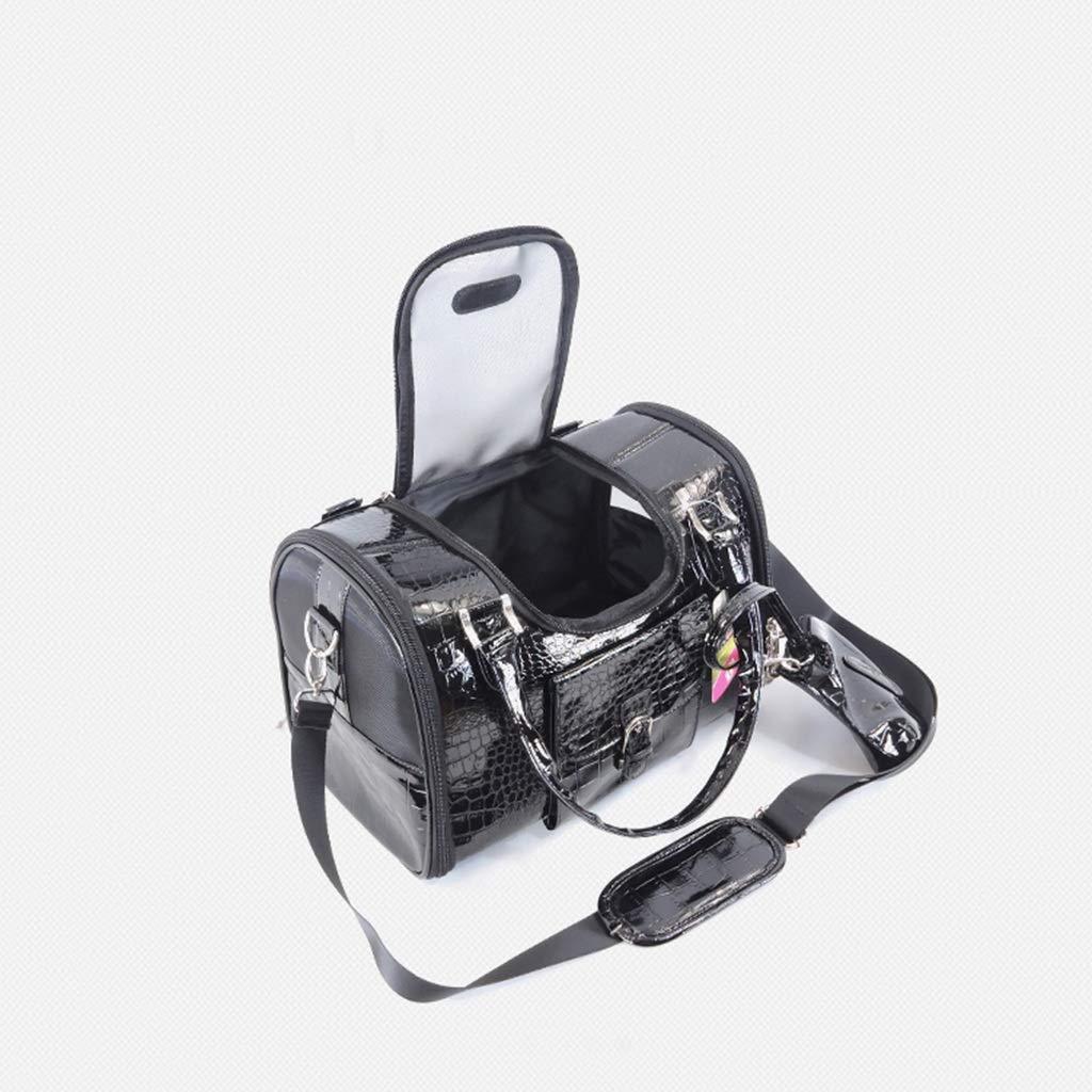 Black LA_Feel pet bag backpack Pet bag out portable Teddy VIP dog backpack dog bag cat bag dog bag handbags pet supplies (color   Red, Size   L)