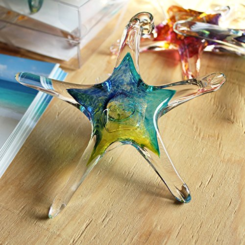 (Luke Adams Small Glass Starfish Blue-Teal-Lime)
