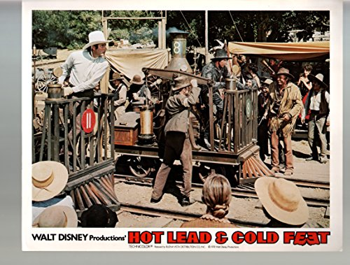 - MOVIE POSTER: Hot Lead & Cold Feet-Jim Dale-Daniel Faraldo-11x14-Lobby Card-Disney