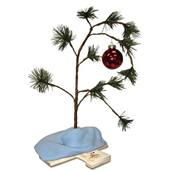 Product Works 24 Inch Charlie Brown Christmas Tree With Linus S Blanket Holiday Décor Classic Ornament