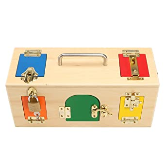 RanDal Niños Habilidad Para La Vida Aprendizaje Montessori De Madera Práctico Caja De Madera Cerradura Juguetes Educativos De Ciencia: Amazon.es: Industria, empresas y ciencia