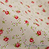 Neotrims Classic English Rose Buds Printed Floral Fabric in 5 Soft Pastel Shades. Fat Quarters and By the Meter. Amazing Cheap Wholesale Price for Woven Materail. For Apparel, Crafts, Home Furhinshings & Decoration. Patchwork Quilt Making!