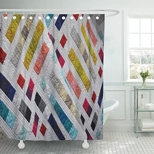 VaryHome Shower Curtain Modern Quilt Comforter Quilting Thro