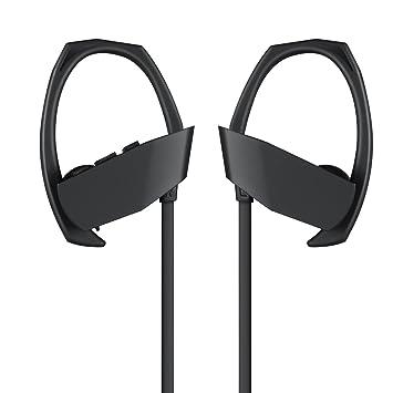 Shaveh Auriculares inalámbricos, HD estéreo a prueba de sudor en los auriculares de la oreja para el entrenamiento de gimnasio funcionamiento de cancelación ...