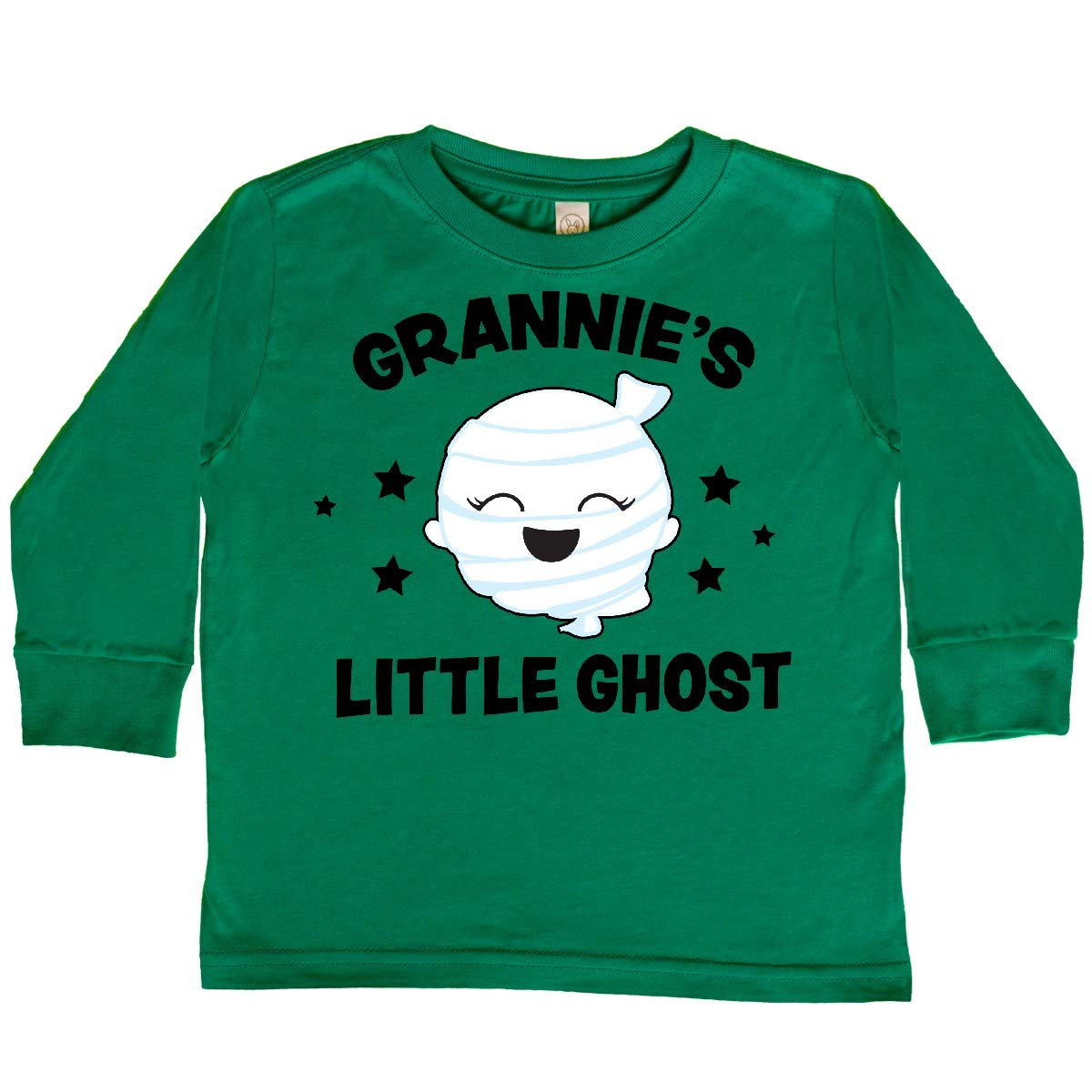 inktastic Cute Grannies Little Ghost with Stars Toddler Long Sleeve T-Shirt