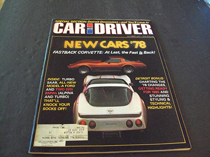 Car And Driver Oct 1977 Fastback Corvette, Detroit Downsizing