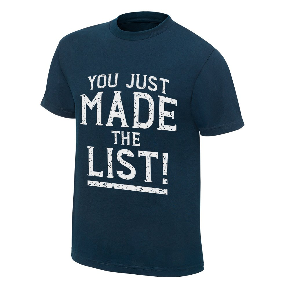 Chris Jericho You Just Made The List WWE Authentic Blue T-Shirt New-S by Hybrid Tees