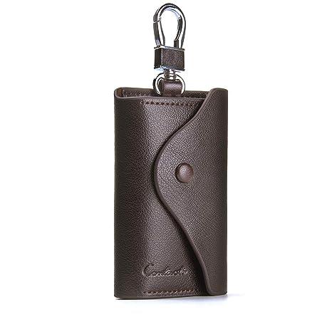 Cartera para llave de coche y tarjetas de piel auténtica de vaca, de Contacts Marrón marrón talla única