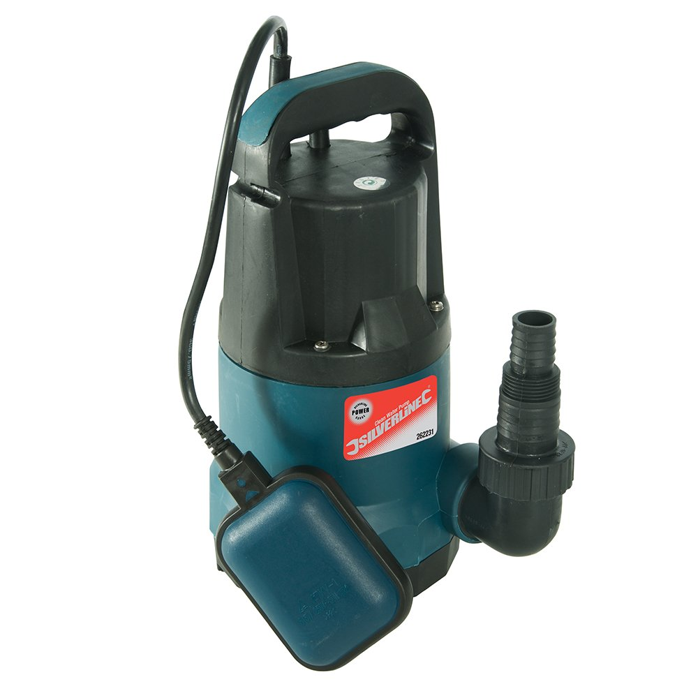 Silverline 262231 Pompe à eau submersible 400 W 150 l/min
